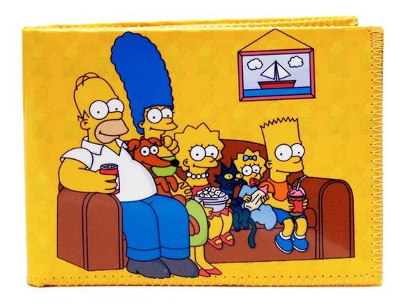 Billetera Simpsons Familia Serie Con Tarjetero