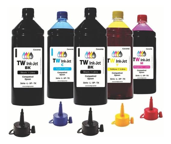 Tinta Compatível Para Epson Ecotank 5 Litros L380 Tw Inkjet
