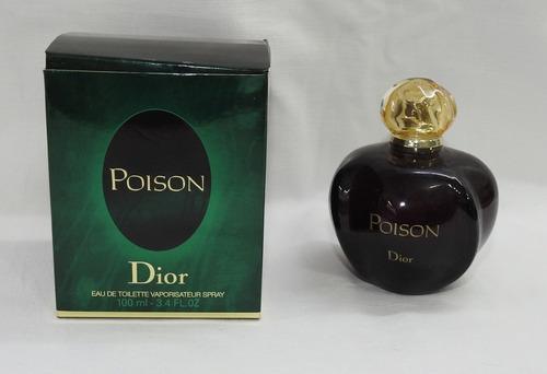 Frasco Vacío De Perfume En Caja Poison Dior 100 Ml