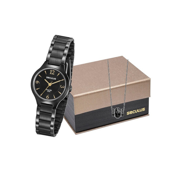 Kit Relógio Seculus Feminino 7017lpsvpa2k1 Envio Imediato