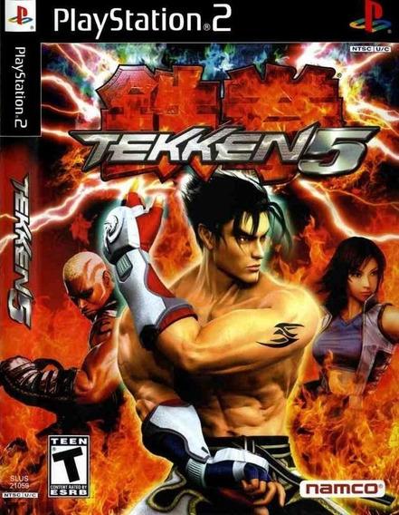 Tekken 5 Jogos Ps2 Barato C/capa + Jogo Brinde Play 2 Grátis