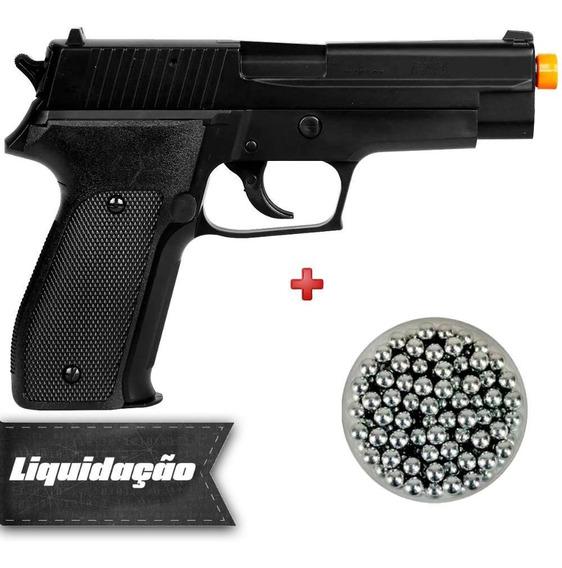 Pistola Spring Airsoft Sig Sauer P226 + Esferas Alumínio 6mm