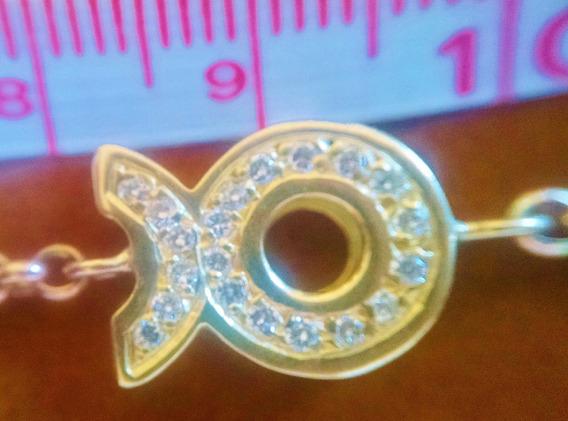 Pulsera Tauro Con .30ct De Diamantes En Oro Sólido 18k