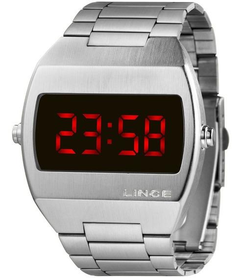 Relógio Masculino Lince Digital Prata Mdm4620lvxsx