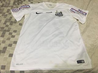 Camisa Santos Usada Em Jogo Thiago Maia 2015 Nike Rara