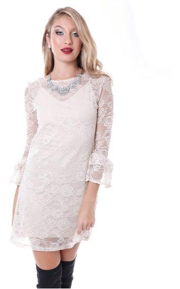 Vestido Encaje Y Volados Fiesta Casamiento. Chucara Store