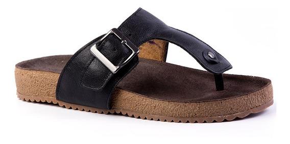 Sandália Feminina Birks 212 Em Couro Preto Doctor Shoes