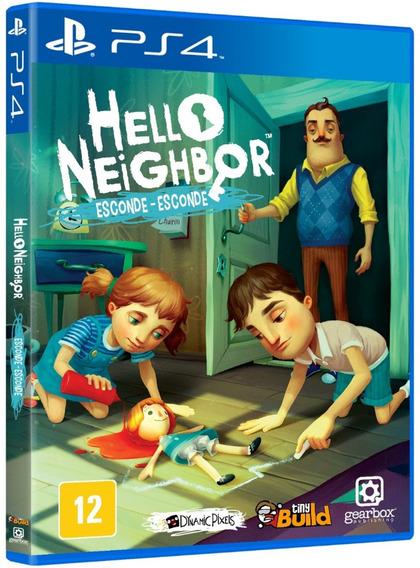 Jogo Hello Neighbor Esconde Ps4 Midia Fisica Cd Original Br