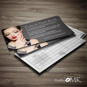 Cartão Pacote Mensal | Manicure, Cabeleireira, Estética