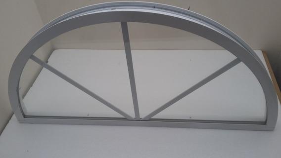 Ventana Circular Medio Punto Aluminio Blanco Aisla Ruido
