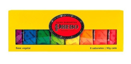 Kit Sabonete Em Barra Phebo Amarelo 90g 8 Unidades