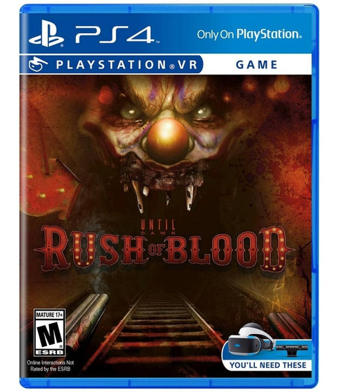 Until Dawn Rush Of Blood Vr Ps4 Mídia Física Novo Lacrado