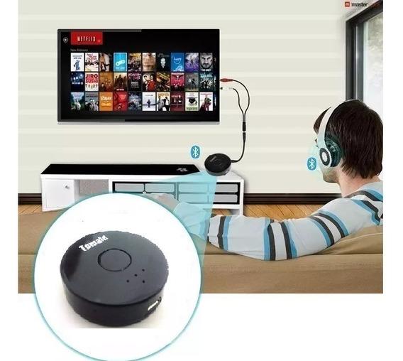 Trasmissor Bluetooth P2 Som Da Tv Pc Tx P/ 2 Fone De Ouvido