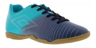 Tenis Umbro Futsal Masculino Indoor Vibe Azulmar/azulclaro