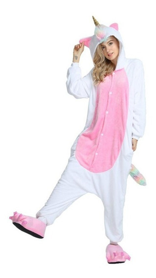 Kigurumi De Unicornio Rosa Cosplay Pijama Mameluco Disfraz