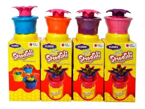 Imagen 1 de 3 de Smooshi Juego De Masa Mix Flores X2 Potes Top Toys