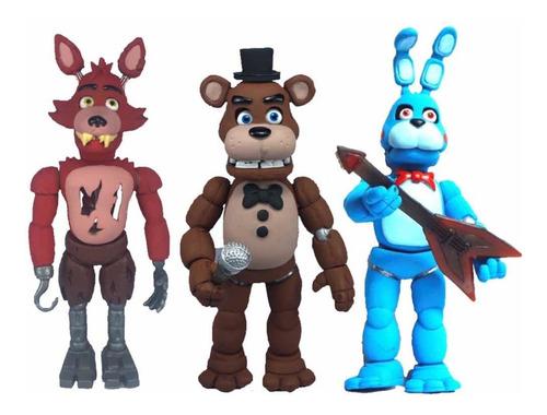 Imagen 1 de 6 de Combo 3 Five Nights At Freddy Bonnie Foxy Freddy Animatronic