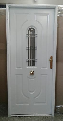 Puerta Reforzada Doble Chapa Inyectada Con Postigo 80x200