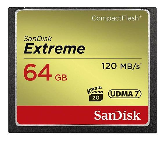 Sandisk 64gb Extreme Compactflash Cf 120mb/seg! Dslr