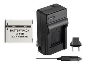 Kit Bateria + Carregador Para Olympus Sp 810 Uz