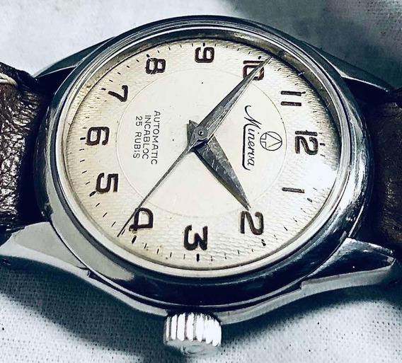 Relógio Minerva Automático 25rubis Fantástico Vintage Suíço