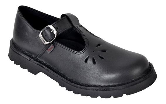 Zapato Nena Guillermina Colegial Cuero Marcel Art904c 34al40