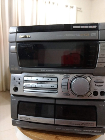 Micro System Aiwa Cx-ns74hr Dsp Super T-bass Md Audio In