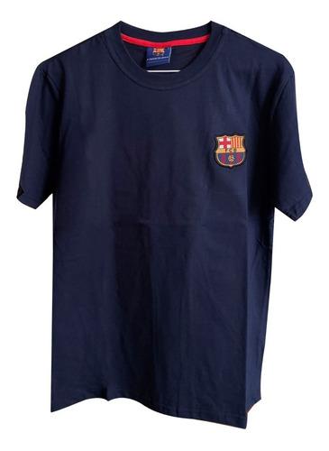 Imagen 1 de 2 de Remera Algodon Barcelona Deportiva Futbol Barsa Masche