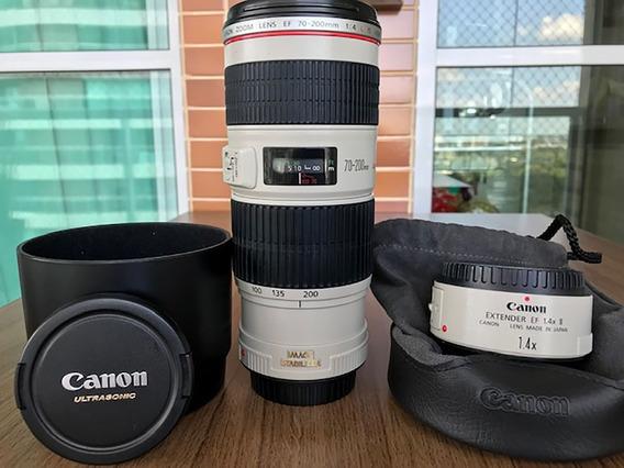 Lente Canon 70-200mm F4.0 Estabilizada Série L +brinde$$