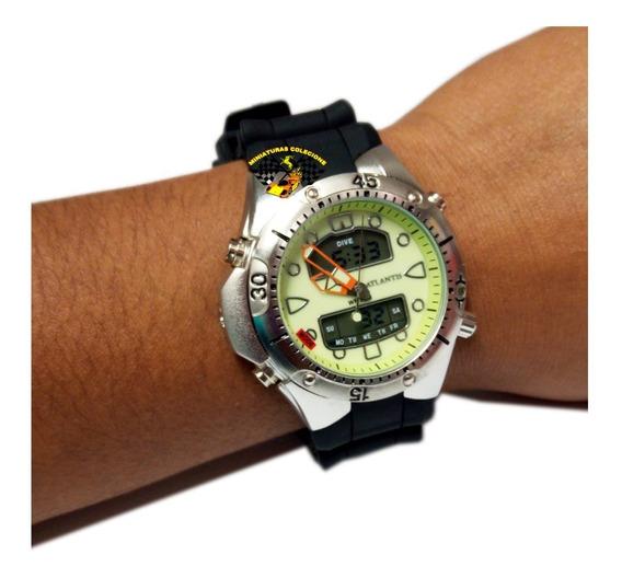 Relógio Masculino Atlantis G3154 Prateado Aqualand 1060