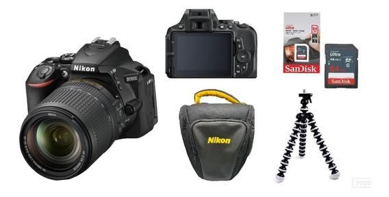 Nikon D5600 +lente 18-140mm F/3.5-5.6g Vr +64gb+bolsa+tripé