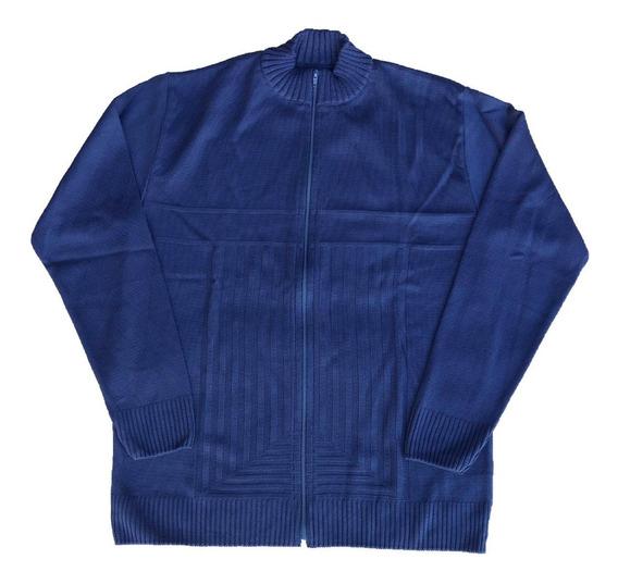 Jaqueta Suéter Masculina Lã Trico Inverno Com Zíper