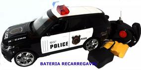 Carrinho Controle Remoto Policia Ranger Bateria Recarregável