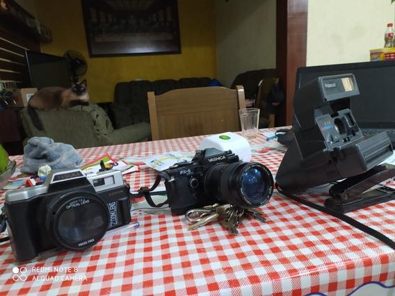 Treis Camera Yachika Mais Uma Polaroid Usadas