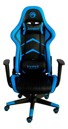 Silla Marvo Gamer Scorpion Ch106 Azul