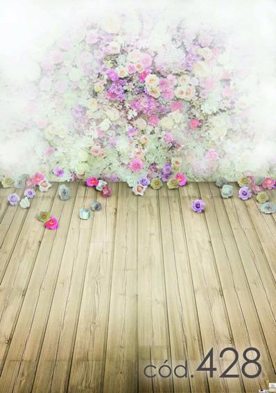 Fundo Fotográfico Tecido Temático Floral - Tam. 1,40x2,00m