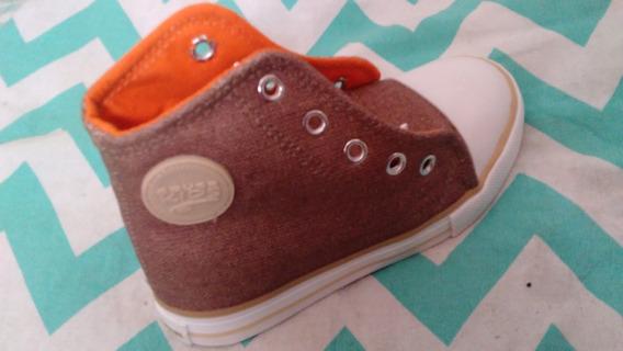 Zapatillas De Lona Tipo Botita