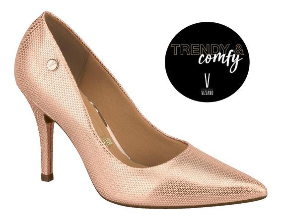 Zapatos Vizzano Stiletto Metal Tramado Taco 9,5cm Scarpy