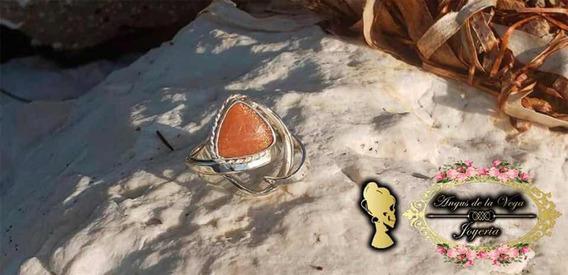Anillo Con Piedra sol Plata .925