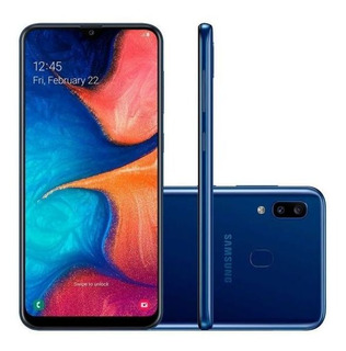 Smartphone Samsung Galaxy A20 Azul 32gb, Tela Infinita De 6