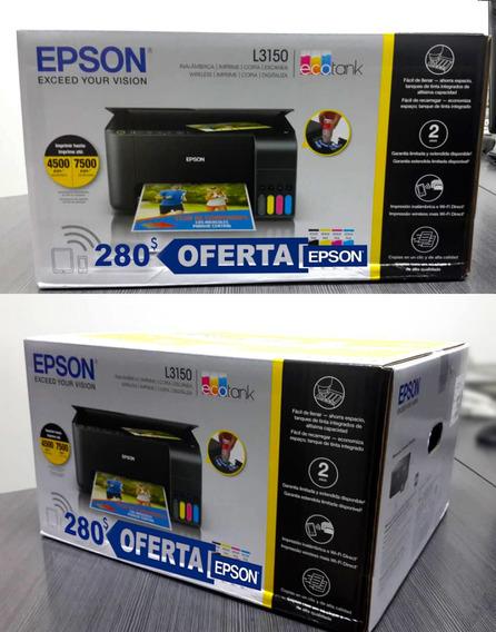 Impresora Multifuncional Epson Ecotank L3150 Ofertazo