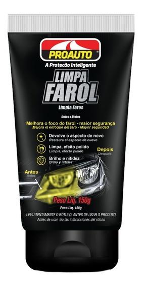 Limpa Farol Efeito De Novo E Polido Original Proauto - 150g