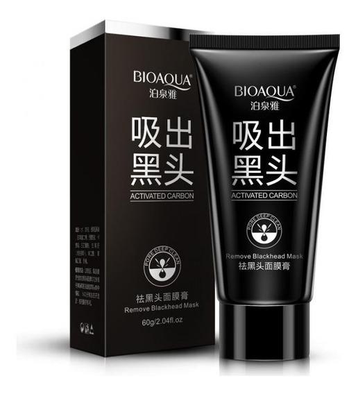 Máscara Negra Removedora De Cravos Carvão Ativo Bioaqua 60g