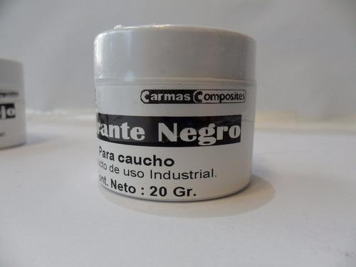 Pigmento Para Caucho De Silicona Color Negro Envase X 20 Gr