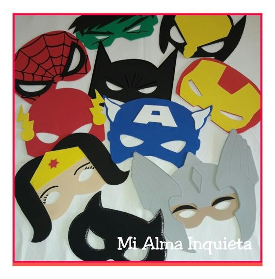 Souvenirs Antifaces Máscaras Súper Héroes Batman Haraña Hulk