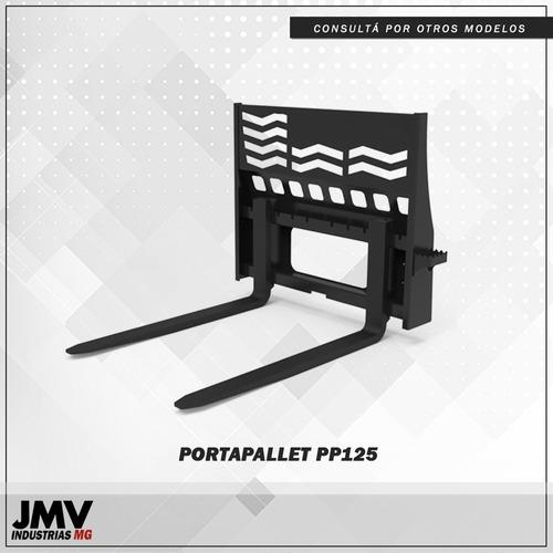 Imagen 1 de 8 de Implemento Jmv Porta Pallet Para Minicargadora Multimarca