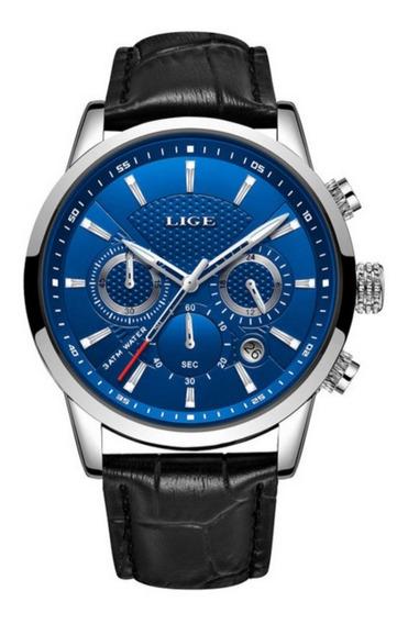 Relógio Masculino Lige 9866 Luxo Casual Social Promoção