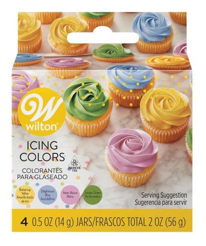 Set X 4 Colorantes Wilton En Gel Colores Jardín