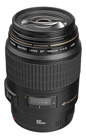 Lente Canon Macro 100mm Ef Usm F/2.8 -nf+garantia