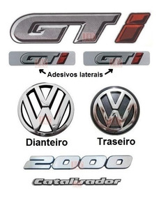 Emblemas Vw + Catalisador 2000 + Adesivos Gti - Gol 91 À 94